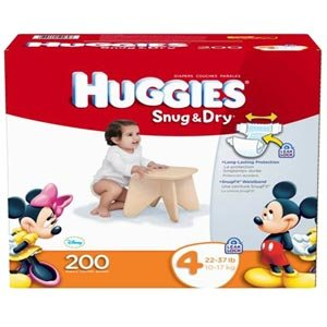 Amazon.com: Huggies Size 4 (22-37 Lbs) 200 Diapers: Health ...