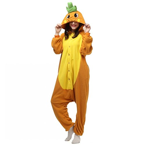 [Foresightrade Adults and Children Animal Cosplay Costume Pajamas Onesies Sleepwear XL] (Tigger Carrot Costume)