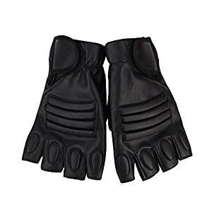 Weight Lifting Gloves Leather Half finger Gloves for Gym Weight Training Powerlifting