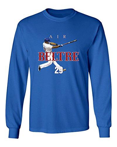 KINGS SPORTS Adrian Beltre Texas AIR HR Men's Long Sleeve T Shirt (Royal,XL)