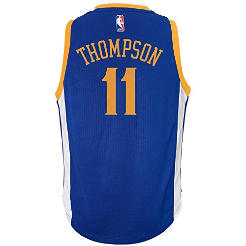 Klay Thompson Youth Golden State Warriors Adidas Blue Swingman Basketball Jersey (Medium) (Swingman Jersey Star)