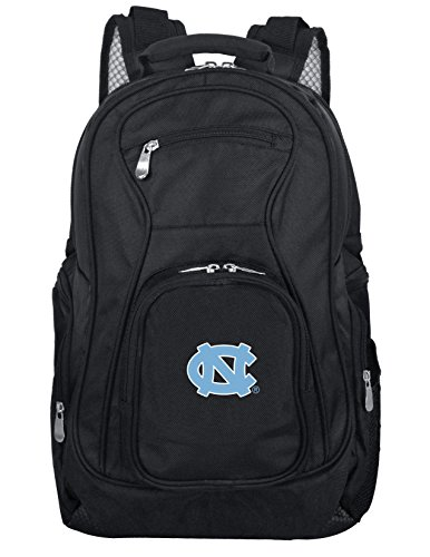 Denco NCAA North Carolina Tar Heels Voyager Laptop Backpack, 19-inches, Black