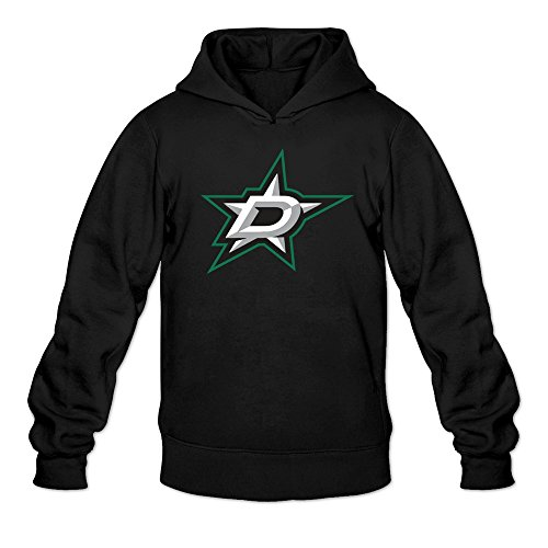 fan products of MARY Men's Ice Hockey Team Dallas Stars Logo Hoodies Sweatshirt Black