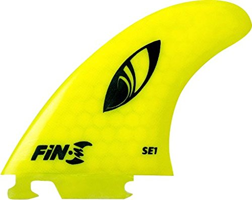 fin-s SE - 1サーフボードハニカムネオンイエロー3フィン   B00F8PSOQY