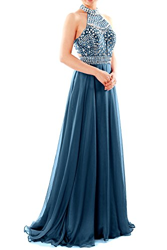 Evening MACloth Teal Halter Neck Women Gown Dress Long Party High Prom Sleeveless PzqPtwgrnx