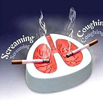 Novelty Coughing and Screaming Lung Ashtray - White