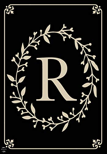 Briarwood Lane Classic Monogram Letter R Garden Flag Everyday 12.5