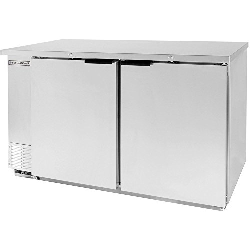 Beverage Air BB58F-1-S Two-Section Refrigerated Food Rated Back Bar Storage Cabinet 58