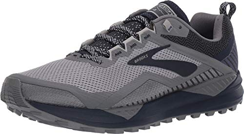 Brooks Men's Cascadia 14 Grey/Navy 9 EE US