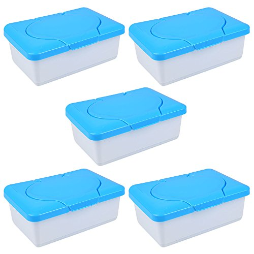 TOPmountain 5 pcs Wet Tissue Paper Towel Plastic Box Baby Wipes Press Pop-up Design Home Storage Holder Container Accessories