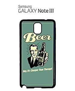 Beer Cheaper Than Therapy Vintage Mobile Cell Phone Case Samsung Note 3 Black