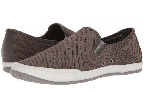 Johnston & Murphy(ジョーンストンアンドマーフィー) メンズ 男性用 シューズ 靴 スニーカー 運動靴 Mullen Slip-On - Gray Perfed Nubuck [並行輸入品] B07BL57YS3