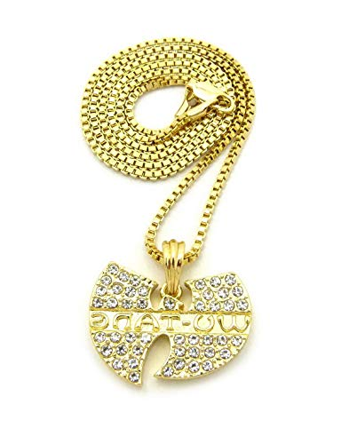 (Werrox New ICED Out WU Tang Pendant 24 Box/Cuban/Chain Hip HOP Necklace - XZ81G | Model NCKLCS - 4601 |)