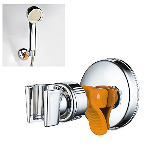 BephaMart Adjustable Shower Head Holder with Suction Cup Chrome Bracket Shipped and Sold by BephaMart ()