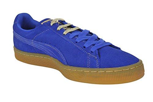 Classico In Camoscio Puma +, Chaussons Sneaker Adulte Mixte Surf Sul Web-oro Metallizzato