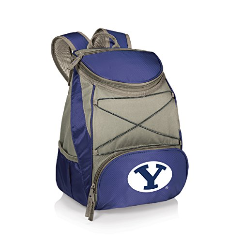 NCAA BYU Cougars PTX Insulated Backpack Cooler, Navy, - Brigham Young Fabric University