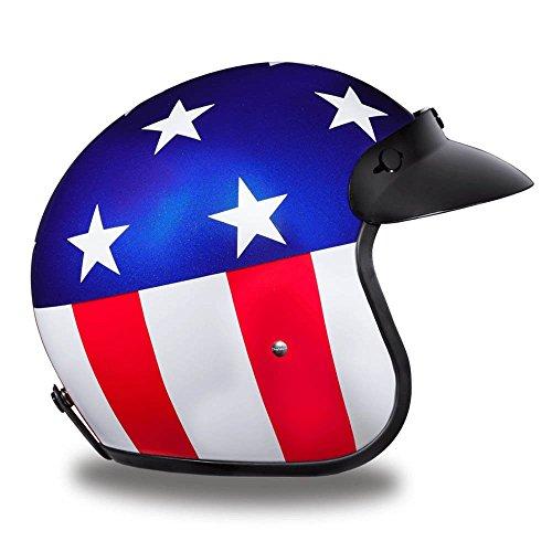Amazon.es: Daytona - Casco del Capitán América con aprobación DOT para motocicleta, con carcasa de 3/4