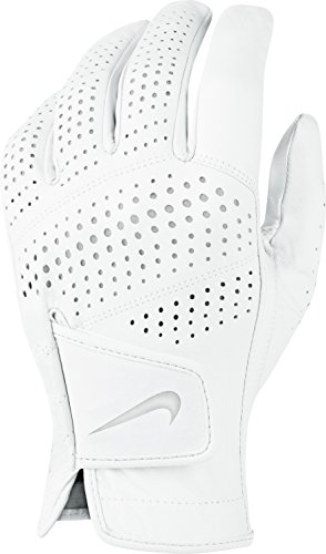 Custom Golf Gloves - Nike Tour Classic II Golf Glove 2016 Regular White/Grey Silver Fit to Left Hand Medium/Large