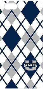 NCAA Utah State Aggies Iphone 5 Case USU Utah State University Cases Cover Plaid stripes Blue