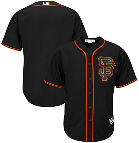 Majestic San Francisco Giants MLB Mens Cool Base Alternate Jersey Black Big & Tall Sizes (4XL)
