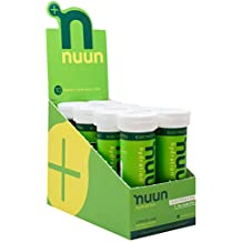 Nuun Hydration: Electrolyte Drink Tablets, Lemon Lime, Box of 8 Tubes (80 servings), to Recover Essential Electrolytes Lost Through Sweat
