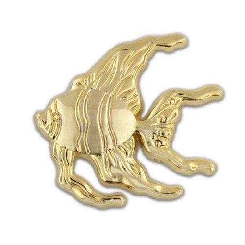 - PinMart Gold Angel Fish Sea Ocean Animal Lapel Pin