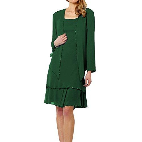 O Vestito Lunghe w d Dark Maniche Green Donna rwIErq