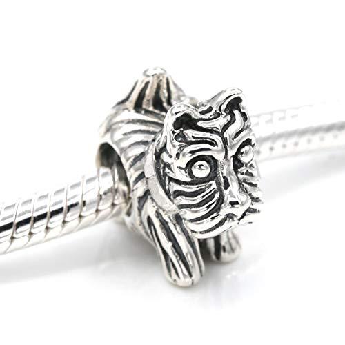 (Calvas 925 Sterling Silver Scottie Dog Charm Beads Fits European Bracelet DIY Women Jewelry Wholesale)
