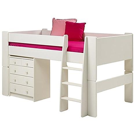 Litera mediana mueble blanco brillante Steens para niños de ...