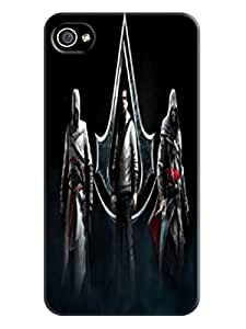 Creat Your Phone Protects For Apple Iphone 4/4S Case Cover with Fresh Cool Assassin's Creed Patterns fashionable Design