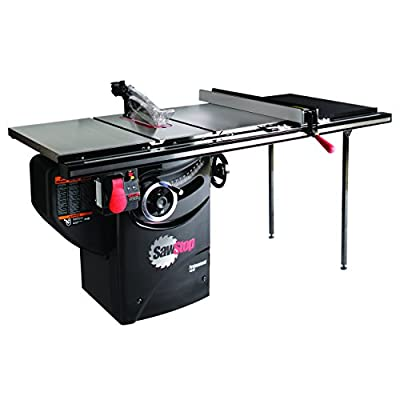 SawStop PCS31230-TGP236 3-HP Professional Cabinet Saw Assembly with 36-Inch Professional T-Glide Fence System, Rails and Extension Table from SawStop
