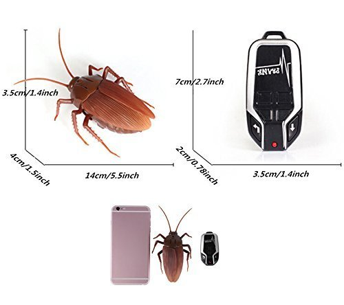 Infrared Remote Control Cockroach Toy Novelty Fake Giant Roaches Look Real Prank Toys Insects Joke Trick Bugs for Kids Pet Toy by Unknown (Image #6)
