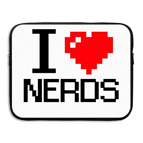I Love Nerds Costume Funny Design Laptop Bag, 15 Inch Notebook Briefcase Laptop Sleeve Bag Cover For 15 Inch Inch Ultrabook / Lenovo Dell / MacBook Pro / Macbook Air , Travelling, Business, College ()