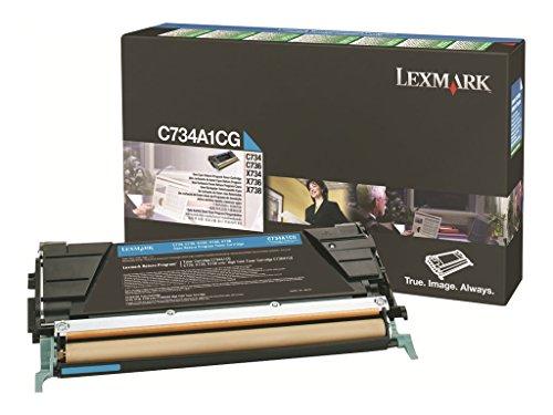 Lexmark C734A1CG Cyan Toner Cartridge by Lexmark