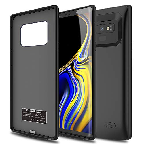 Note 9 Battery Case, ALLEASA 5200mAh Rechargeable Extended Battery Charging case Protective Battery Pack Case Compatible for Note 9–Black