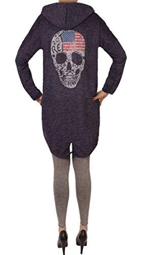 WANT FASHION Blau Skull Gilet Usa YOU Femme f4wqFU
