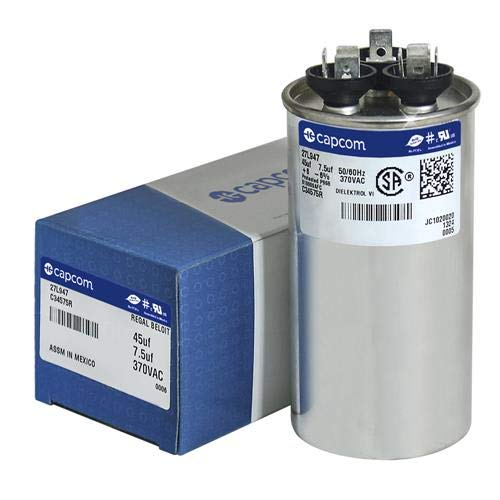 OEM Upgraded Replacement for Nordyne Intertherm Miller Round Capacitor 45//7.5 370 Volt 621153