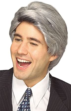 Rubie's Costume Late Night Host Character Wig Grey One Size Rubies Costumes - Apparel 51368