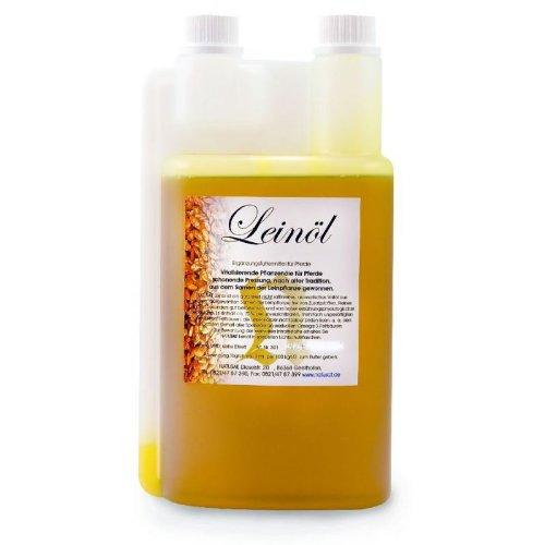 Natusat Leinöl 2500 ml - Omega 3 Fettsäuren - Verdauung, Pferdefell - Futtermittel für Pferde