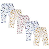 Kuchipoo Kids Pyjama Baby Pajama, Pack of 5 (Multi-Colored, 0-3 Months)