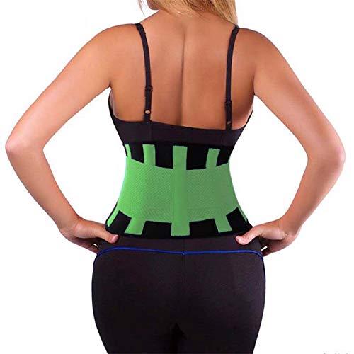 New-Challenge Waist Trainer Corset Plus Size Shapewear Body Shaper Slimming Corrective Underwear Minceur Waist Trainer Belt,Green,XXL ()