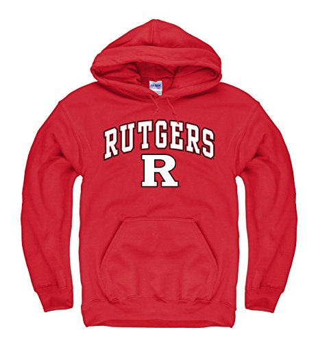 Rutgers Scarlet Knights Logo (Campus Colors Rutgers Scarlet Knights Adult Arch & Logo Gameday Hooded Sweatshirt - Red, Large)