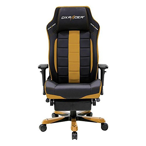 DXRacer OH/CS120/NC/FT Black & Coffee Classic Series Gaming Chair High-back Ergonomic Home Office Adjustable Swivel Racing eSports Computer Chair with Lumbar Cushion and Headrest Pillow