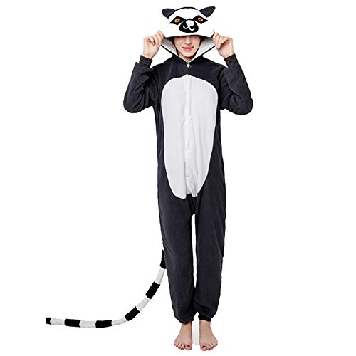 Winter Adult Hoodie Fleece Onesie Animal Play Costume Adult one-Piece Pajamas(A M) -