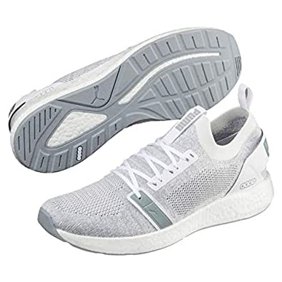 PUMA Men's NRGY Neko Engineer Knit Athletic & Sports Shoes, Puma White-Quarry, 7 US