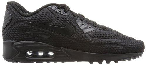 Nike Herren Air Max 90 Ultra BR Gymnastikschuhe, Bianco, 44.5 EU Black (Black (Schwarz / Schwarz-Schwarz-Ttl Hochrot))