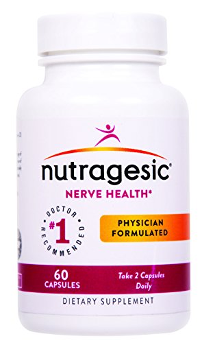 Nutragesic Nerve Health: Nutritional Support for Diabetic and Neuropathic Pain Relief. Includes Bioactive Folate, and a proprietary blend of Benfotiamine and Alpha-Lipoic - Blend Nerve