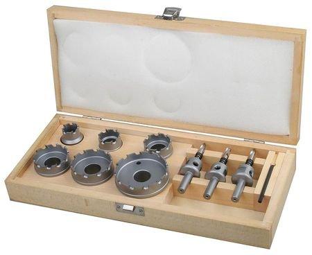 Westward 6EXN7 Hole Cutter Kit, Carbide, 9 Pc