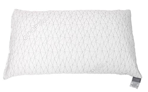 Coop Home Goods - PREMIUM Adjustable Loft - Shredded Hypoallergenic CertiPUR-US Memory Foam Pillow with signature Ultra Tech washable removable cooling bamboo derived cover - Made in USA - STANDARD