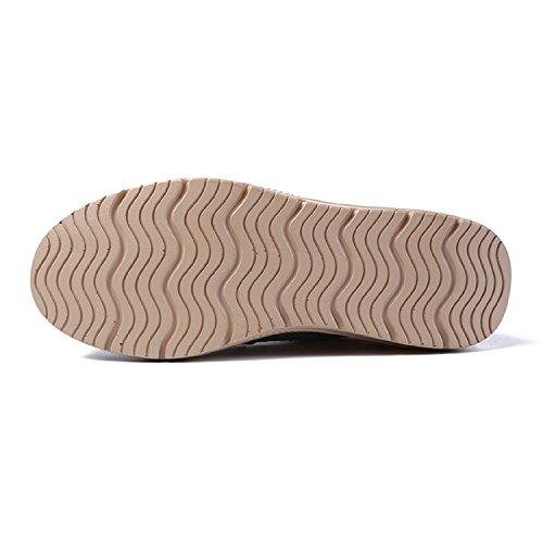 Zapatos Gris De Cuña Antideslizante Lily999 Mocasines Casual Loafers Y Mujer Plataforma Cómodo nT8w7q